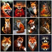 fox mosaic jewel cross stitch diamond painting crafts for adults animal paint diy 5d handmade embroidery diamond wall decor