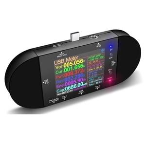 UD24 USB Tester Type-C 2.4Inch Digital Voltmeter Ammeter Power Bank Voltage Detector Volt PD Trigger Electric Meter