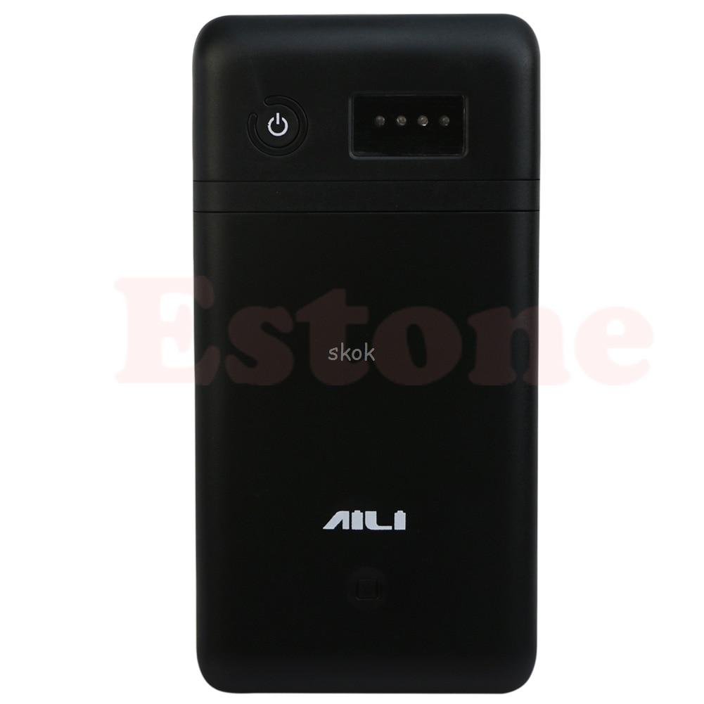 Caja de Banco de energía móvil USB 3,6 V 5V 6V 9V 12V 6x18650 adaptador de cargador de batería Au13 19 Droship