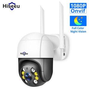 Hiseeu Wireless WIFI Dome Camera Outdoor 1080P 5x Digital Zoom PTZ Control IP Camera Audio CCTV Surveillance For House security