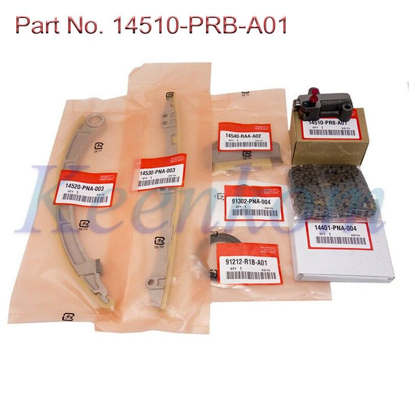 Комплект натяжителя зубчатой цепи 14510-PRB-A01,14401-PNA-004,14540-RAA-A02 Подходит для Honda Accord 2.4L Civic K20Z3 K20A3 K20Z1 2.0L