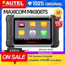 AUTEL MaxiCOM MK808TS TPMS автомобильный диагностический инструмент TPMS инструмент для программирования давления в шинах obd2 сканер pk mp808ts mk808bt