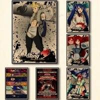 WTQ     affiches de dessin anime retro  decoration murale  peinture sur toile  tableau dart mural pour salon  decoration de la maison