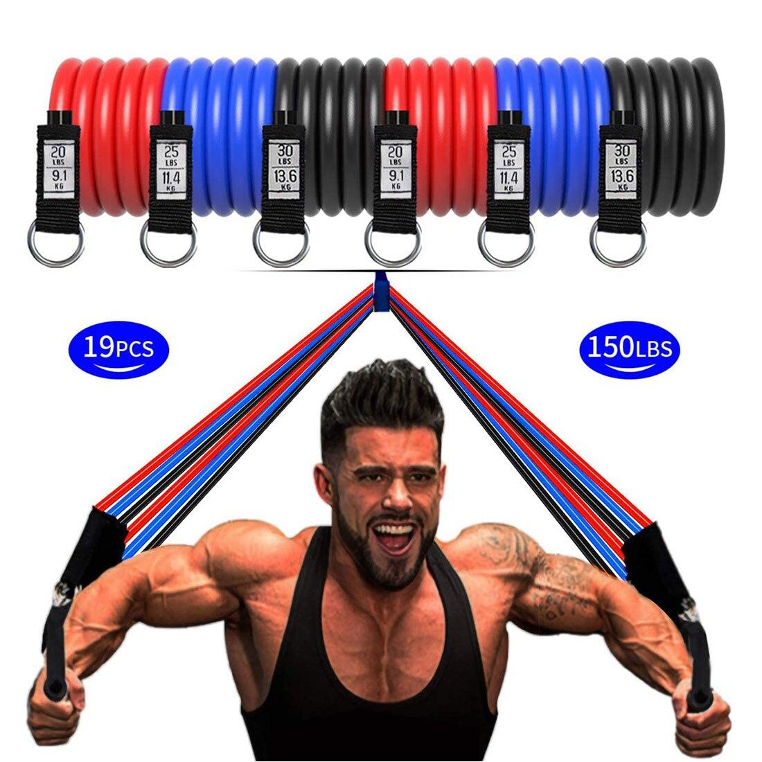 Bandas de resistência conjunto puxar para cima bandas de exercício alças porta âncora para homens mulher pernas peito trem exercícios equipamentos de ginástica em casa