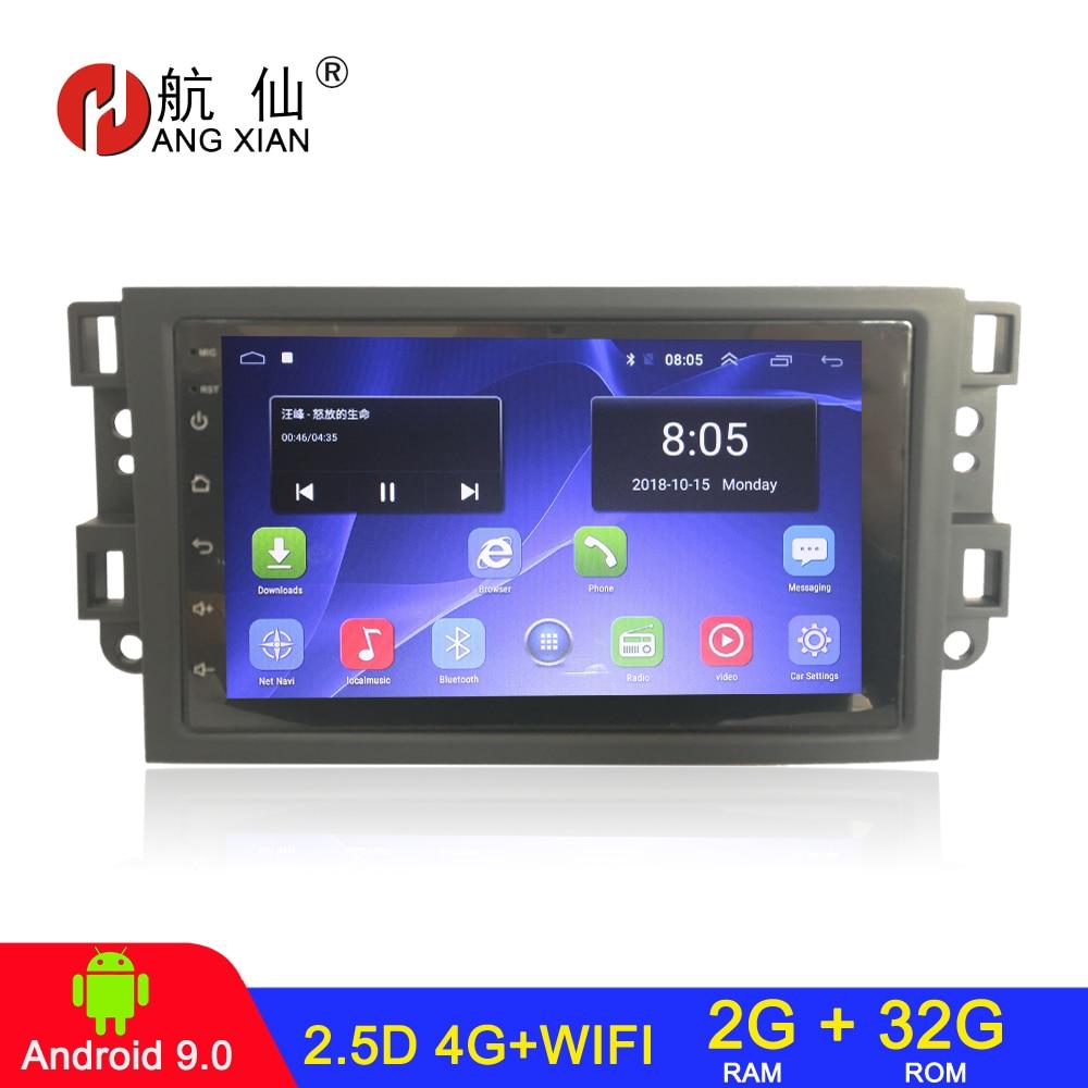 HANGXIAN-autorradio 2 din con reproductor dvd y Android 9,1 Para Chevrolet, Lova,...