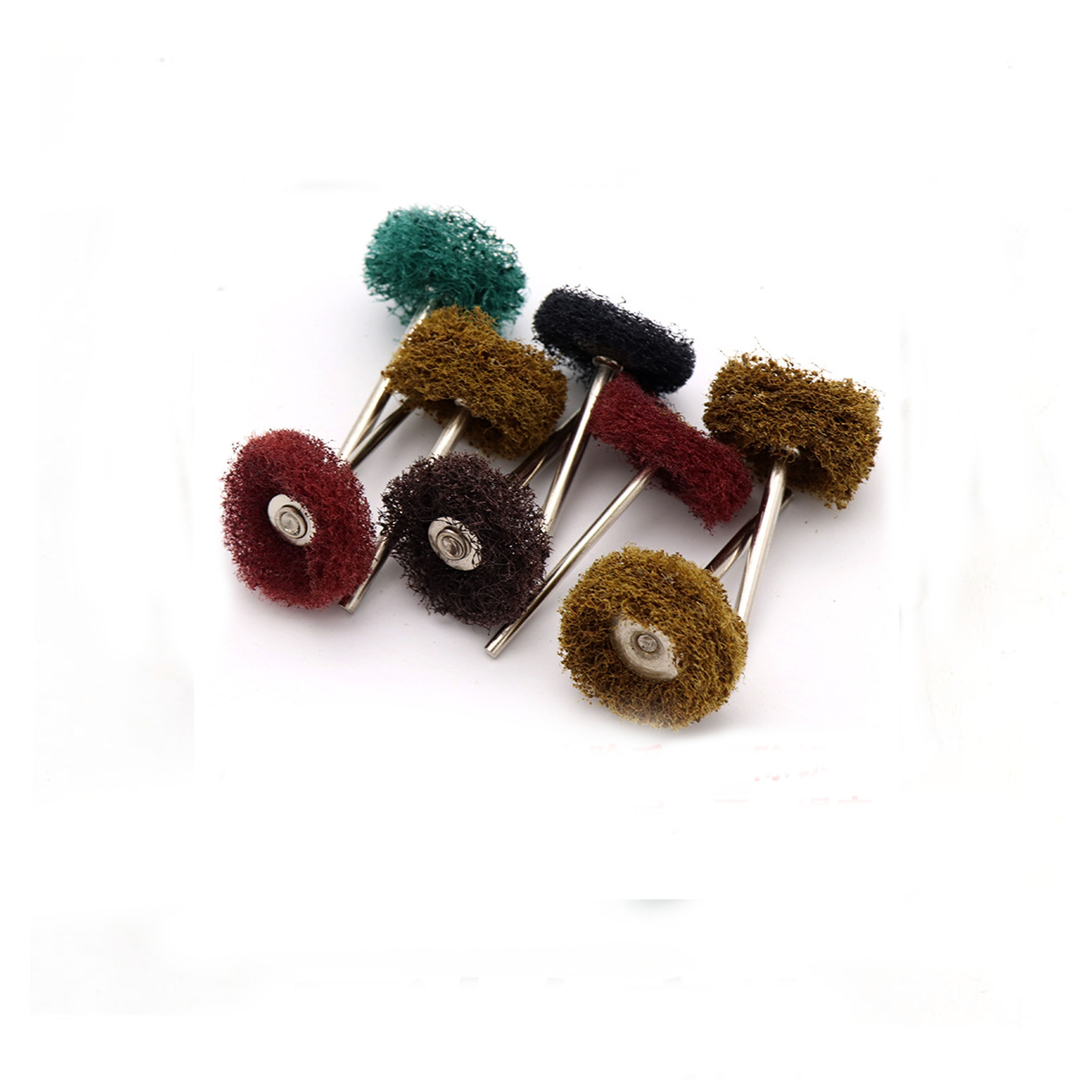 100 pçs almofada de limpeza polighing rodas náilon firber moagem ferramentas abrasivas para jóias 3mm haste