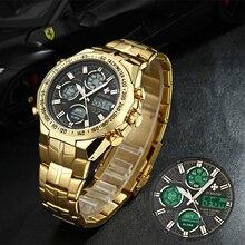 WWOOR Men's Watches New Luxury Gold Business Classic Quartz Clock Analog Chronograph Sport Waterproo