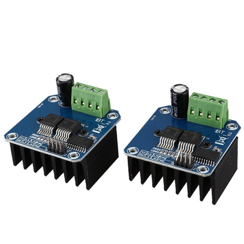 Doble BTS7960 43A h-bridge módulo controlador de Motor de alta potencia/coche inteligente