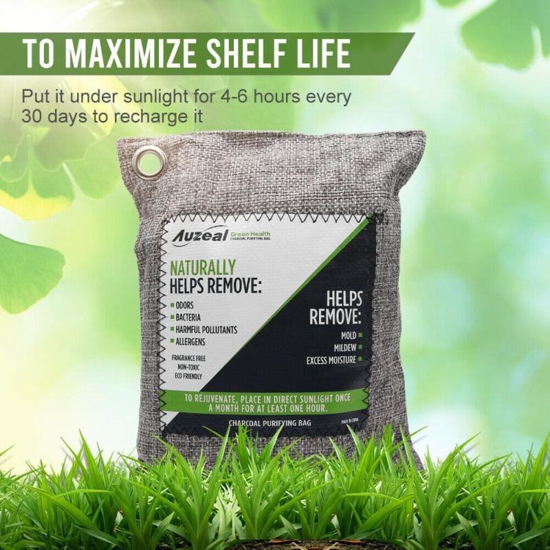 2/4pcs Air Purifying Bags Nature Fresh Charcoal Bamboo Air Purifying Bag Mold Odor Purifier Bamboo C