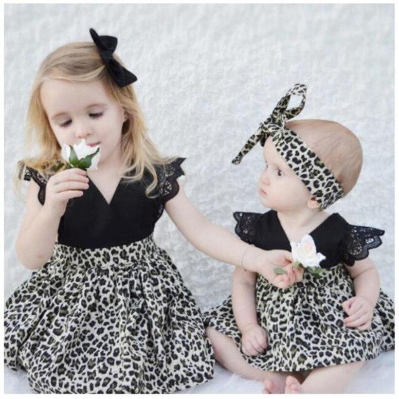 2021 nuevo leopardo vestidos infantiles para niñas, Vestido Infantil cumpleaños de niño...