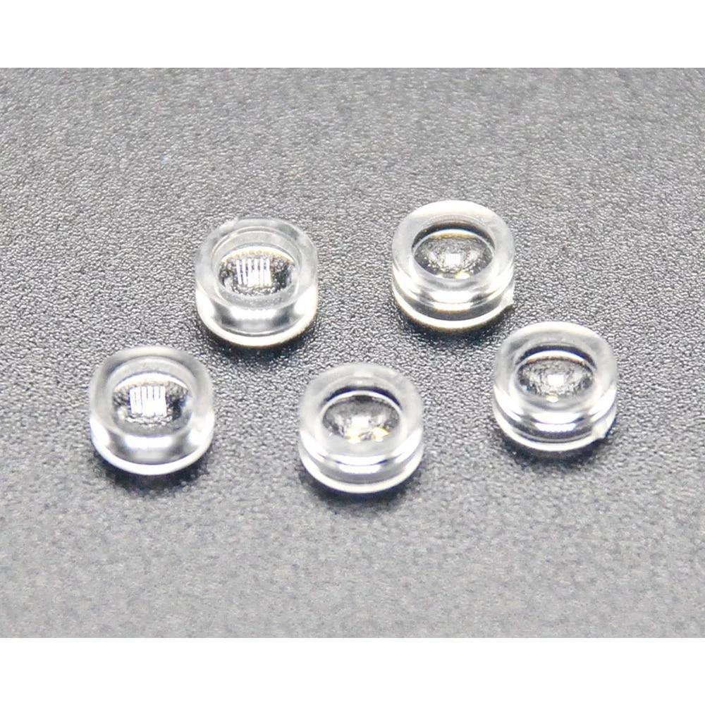 50шт 5 мм диаметр пластик лазер фокусировка линза коллиматор линза для лазера диоды