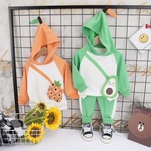 2020 Baby Boy Clothes Spring & autumn Cartoon Boys girls Clothing Cute fruit style Sweatshirt sweatpants Kids Toddler 2pcs/set
