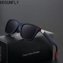 HDSUNFLY Men Polarized Sunglasses Men Women Square Brand Designer Rays Driving Sun Glasses Goggle UV