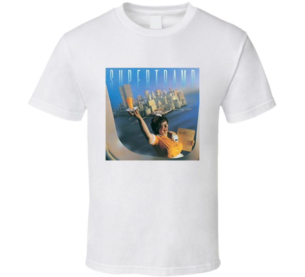 Supertramp desayuno en América camiseta muchos colores regalo de seguidor estilo de verano Hip Hop hombres camiseta Tops