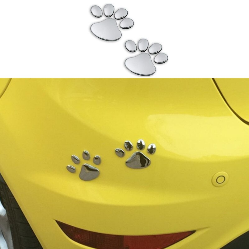 Car styling Funny Car sticker 3D Animal Dog Cat Bear Foot Prints Footprint for Chrysler Aspen Pacifica PT Cruiser Sebring Town