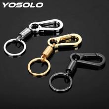 YOSOLO Schlüssel Ring Frühling Kürbis Schnalle Gürtel Clip Schleife Metall Schlüssel Kette Männer Mode Auto-styling Edelstahl Auto keychain