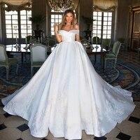luxury a line wedding dress 2021 robe de mari%c3%a9e elegant off gowns custom made sweep train bridal dresses
