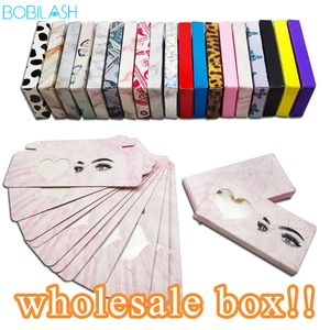 5/50/100Pcs Eyelash Packaging Box Wholesale 3D Mink Lashes Bulk Empty Box 25mm Mink Eyelashes Cases False Lashes Paper Box