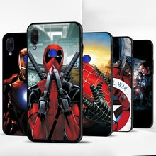 Iron Man Avengers Schwarz TPU Telefon Fall Für Xiao mi mi A2 Lite Fall Abdeckung Rot mi K20 Pro Für xiao mi mi A1 A3 Lite CC9E F1 mi 6X mi 5X