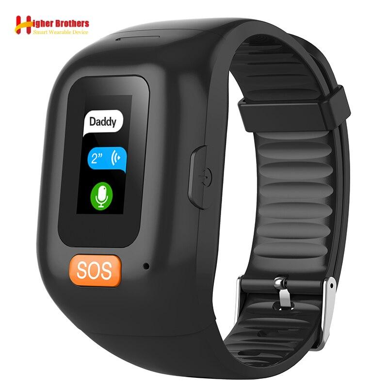 سوار GPS ذكي مع مراقب صوتي لكبار السن ، ساعة ذكية مع التحكم في معدل ضربات القلب والنشاط البدني ، ساعة ذكية لكبار السن ، طالب ، SOS