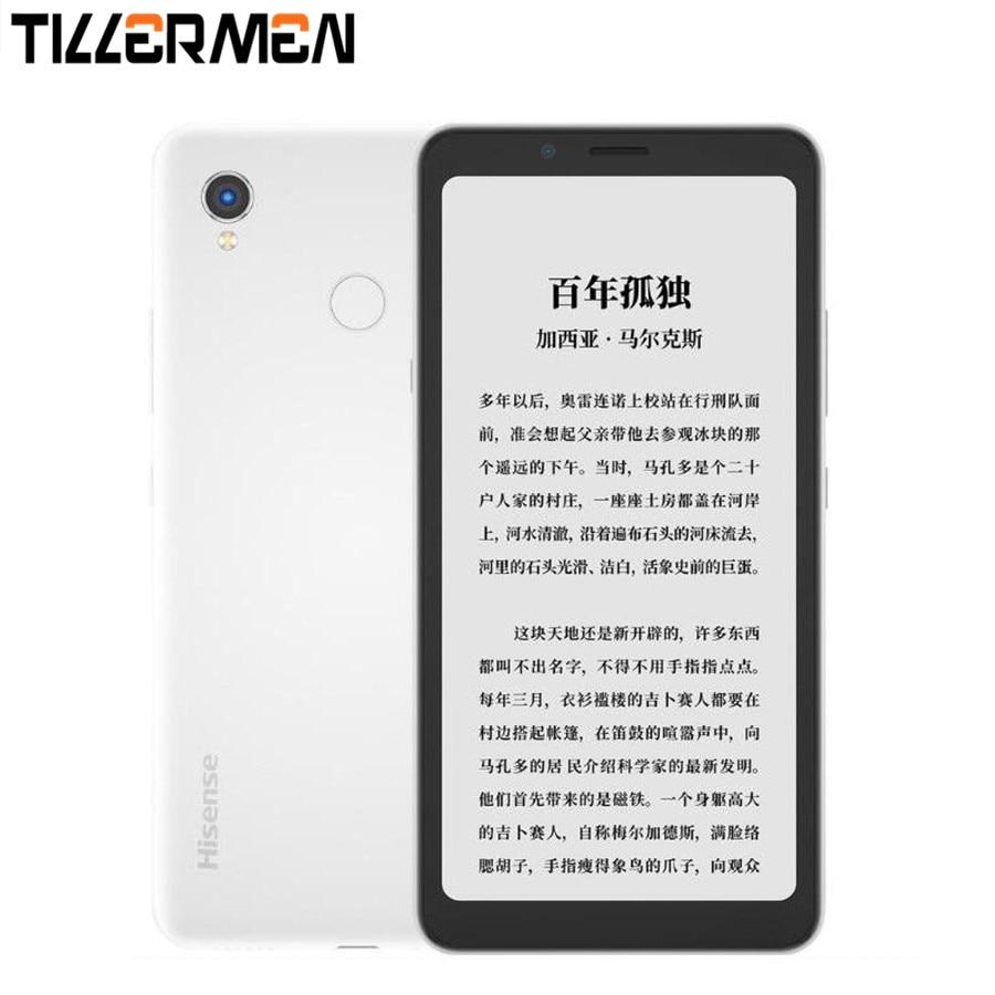 Оригинальный Hisense A5 Pro Телефон с чернильным экраном, распознаванием лица и отпечатков пальцев, Android 10,0, телефон для чтения, 5,84 дюймов, две SIM-ка...