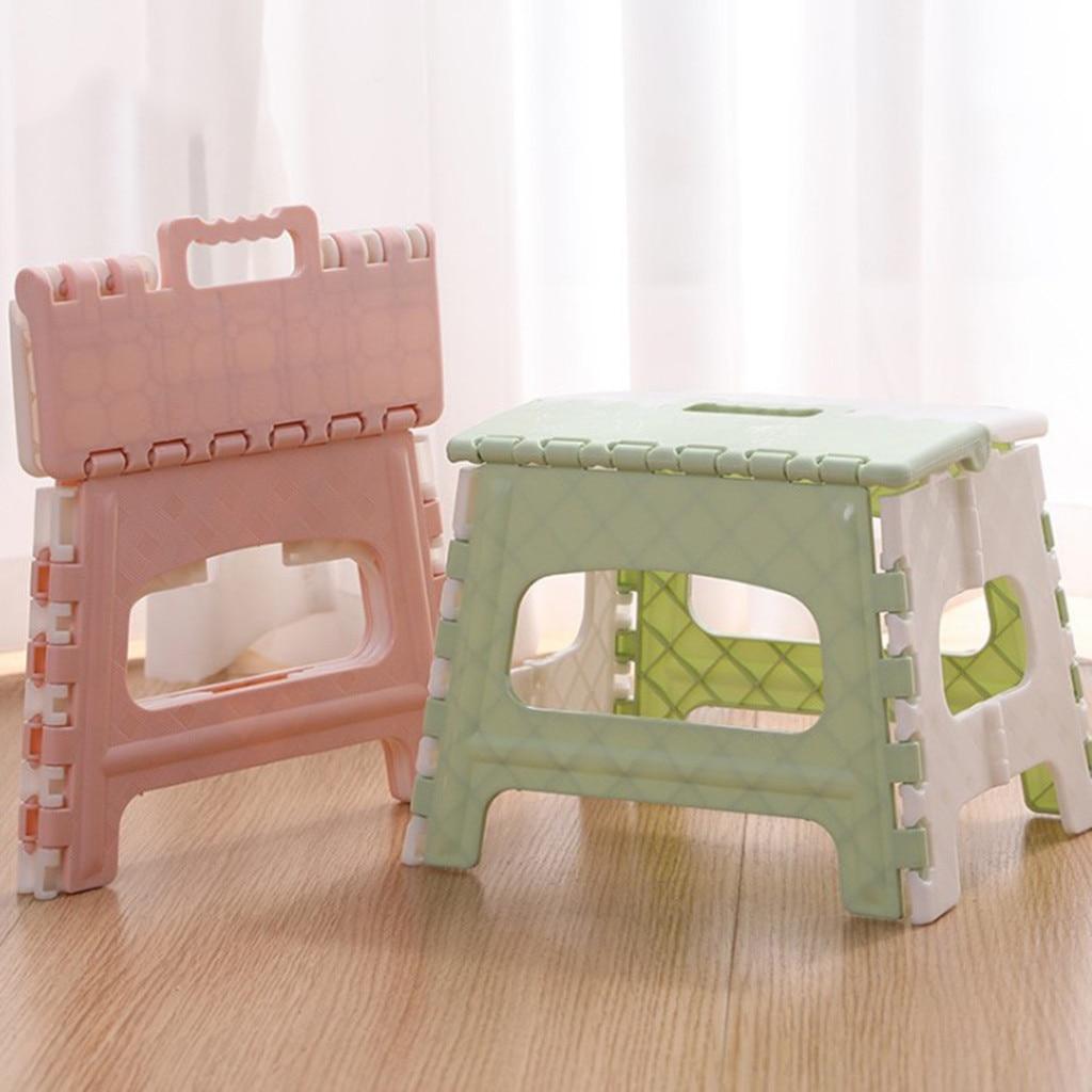 Plastic Multi Purpose Folding Stool Step stool kids Home Train Outdoor Indoor Storage Foldable Child stool banqueta plegable