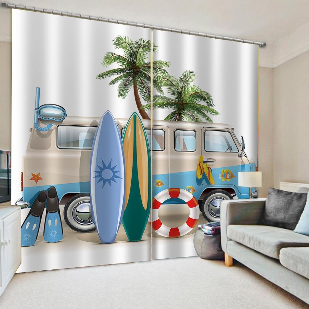 Modern Curtain Printing Cartoon Curtains For Living Room Bedroom Cortinas Kids Fabric Bedroom Cortinas Blackout Shading