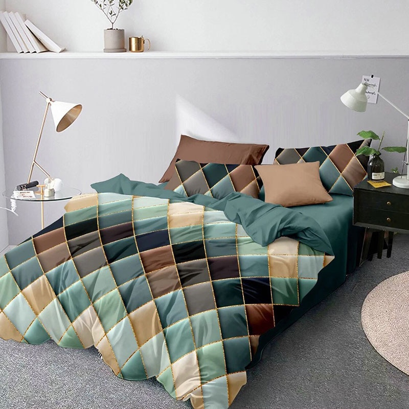 hot sell quilt cover bedclothes bedding set double layer blanket simple fashion crystal thicken velvet quilt cover home supplies Geometric Bedding Set Luxury Quilt Cover Set For Home Soft Duvet Cover Durable Bed Cover Set Quality Bedclothes Double Bed Duvet