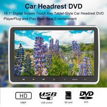 Fonction de transmission FM DC 12V 1024*600 HD 10.1 pouces siège de voiture appui-tête arrière touche tactile télécommande lecteur DVD moniteur