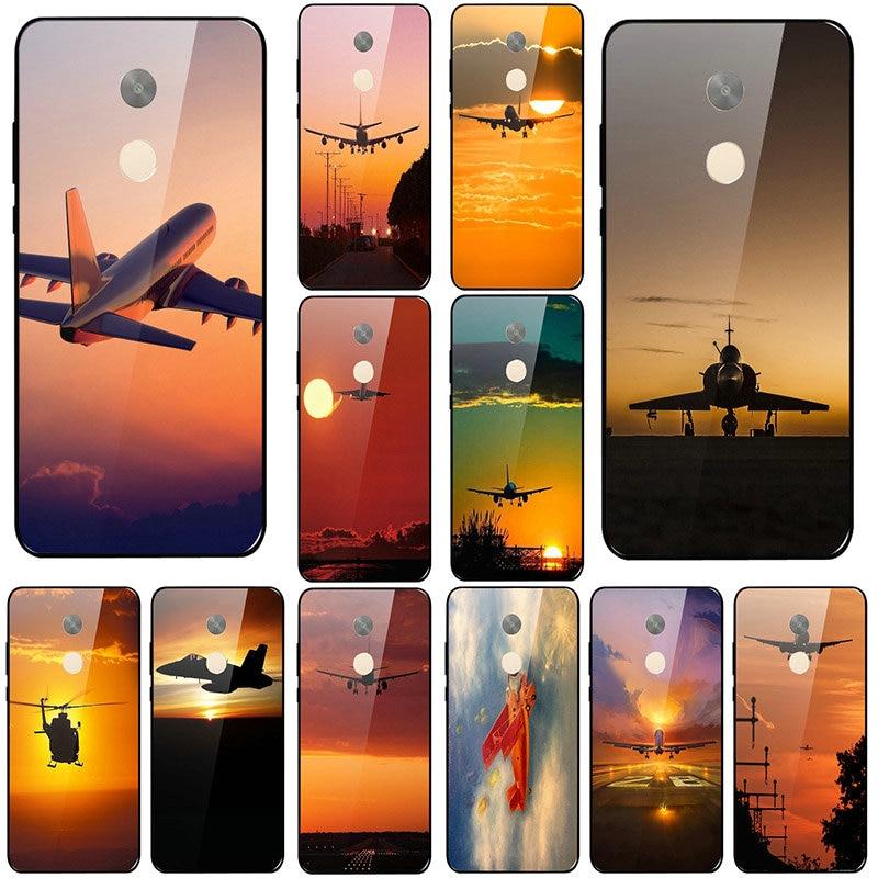 Coque para Xiaomi Mi Redmi Note 4 4X 5 5A 7 7A 8 8A 9 SE A1 A2 Plus Lite vidrio templado claro teléfono casos Sunset Glow tema