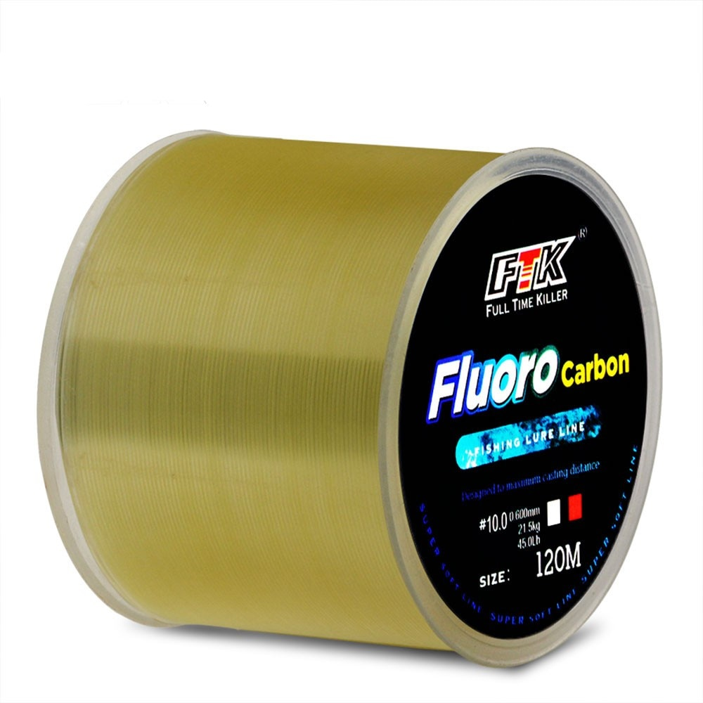 aliexpress.com - Fishing Line 120M 0.14-0.5mm 4.13-34.32LB Fluorocarbon Coating Lines wire Smoother Imported High Quality Floating Line