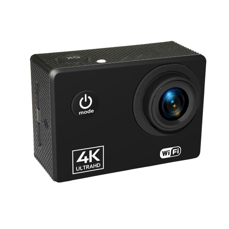 Action Camera 4K/60FPS WIFI 24MP Ultra HD Mini Helmet Cam with 2.0 Inch IPS Sn WiFi Waterproof Sports Camera