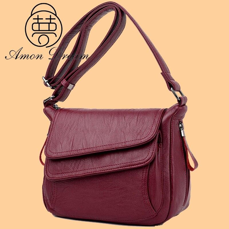 Purses Quality Leather Shoulder Crossbody Bags for Women 2021 Luxury Handbags Women Bags Designer High Quality Messenger Bag Sac
