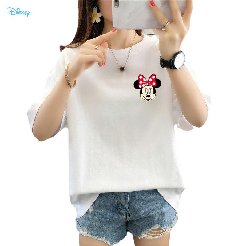 Camiseta De algodón De Minnie Mouse De Disney para Mujer, camiseta De...