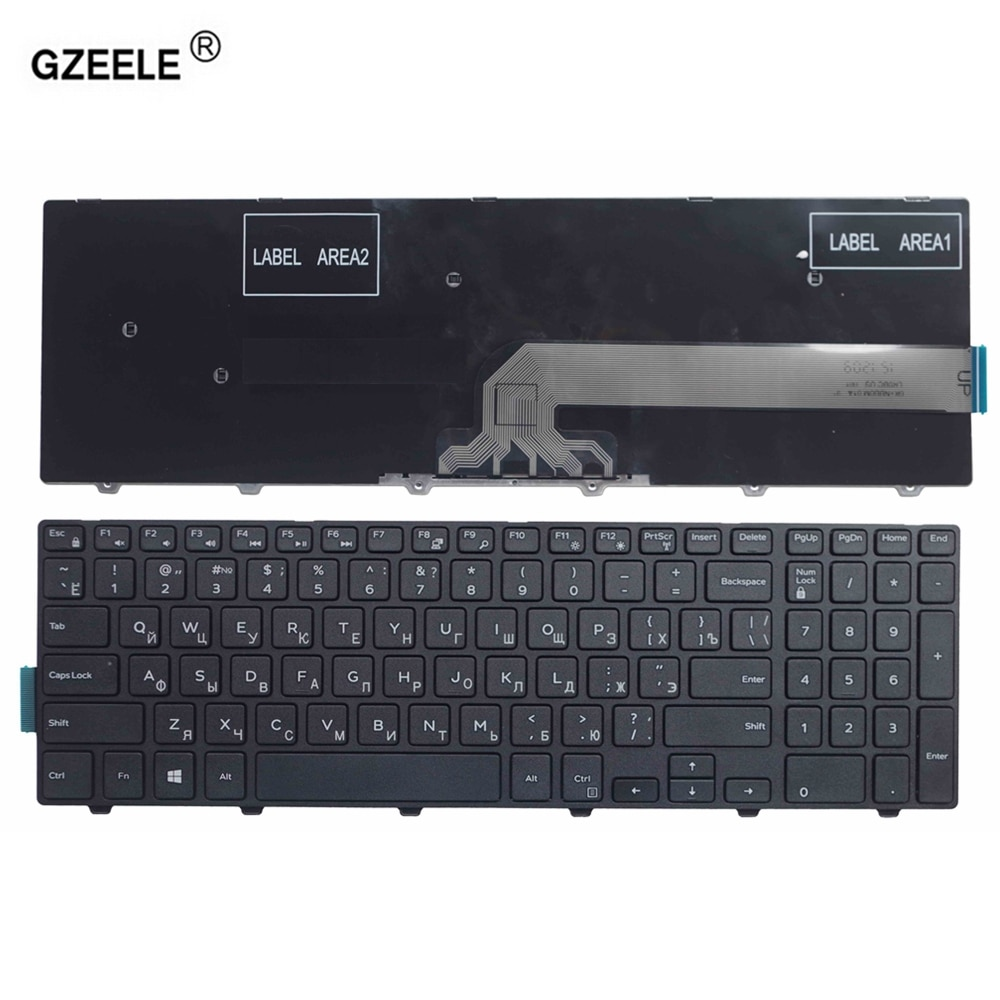 Russian Keyboard FOR DELL Inspiron 15 3000 5000 3541 3542 3543 5542 5545 5547 15-5547 15-5000 15-554