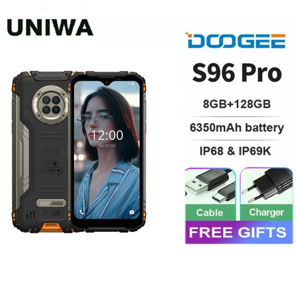 DOOGEE S96 Pro Rugged Phone Helio G90 Octa Core 8+128GB NFC 6350mAh Smartphone 20MP Infrared Night Vision Camera Cellphone