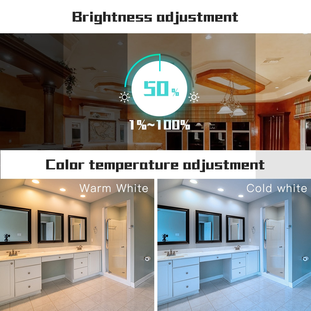Gledopto Zigbee AC100-240V 4PCS RGBCCT LED Downlight Brightness Adjustable Compatible With SmartThings APP Alexa Voice Control enlarge
