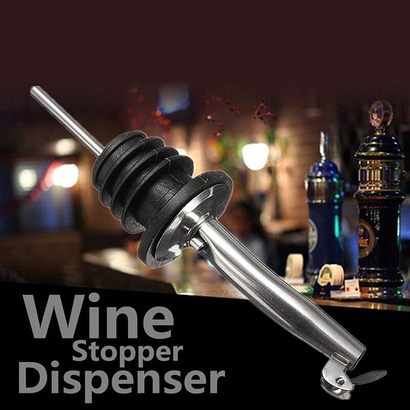 1/10 pçs óleo de oliva pulverizador licor dispensador de vinho de borracha pourers flip topo bebida vinho tinto rolha cozinha ferramentas tampa garrafa