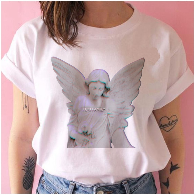 Vaporwave Estética Egirl t shirt roupas casal roupas streetwear feminino ulzzang vintage grunge camiseta kawaii