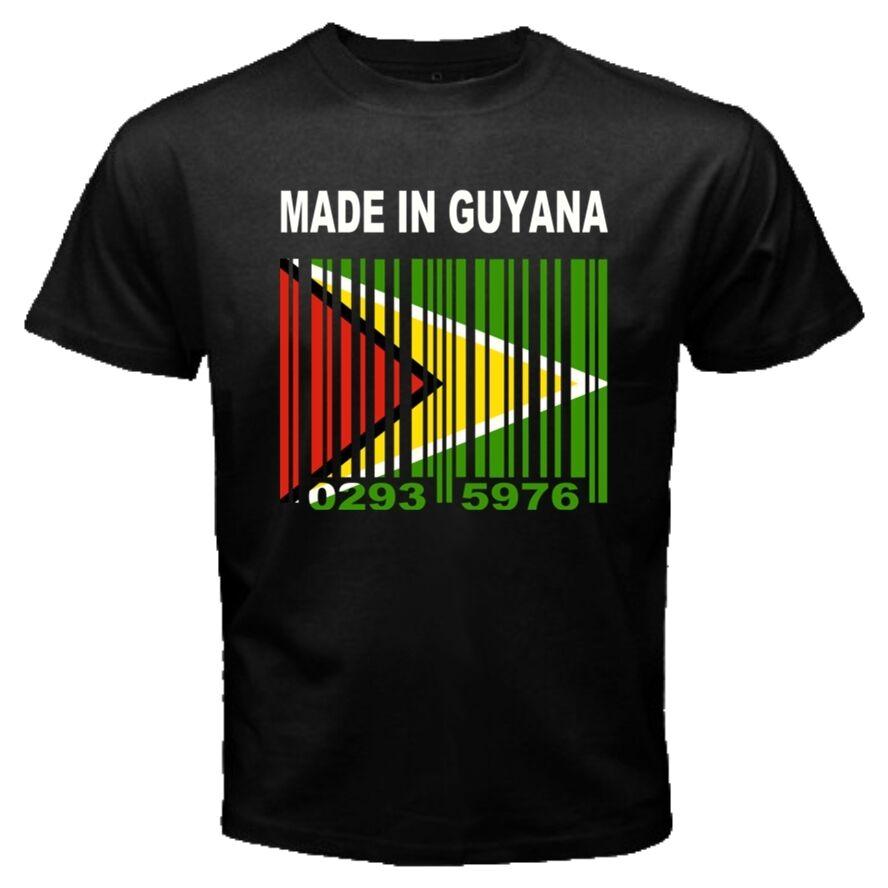 MADE IN GUYANA Guyanes National Country Flag CUSTOM BARCODE NUMBER T-shirt