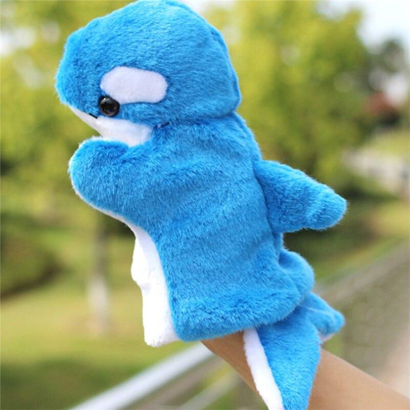 Nouveau dauphin en peluche marionnette à main pour enfants maternelle Parent-enfant jeu interactif accessoires bébé enfant éducation précoce jouets cadeaux