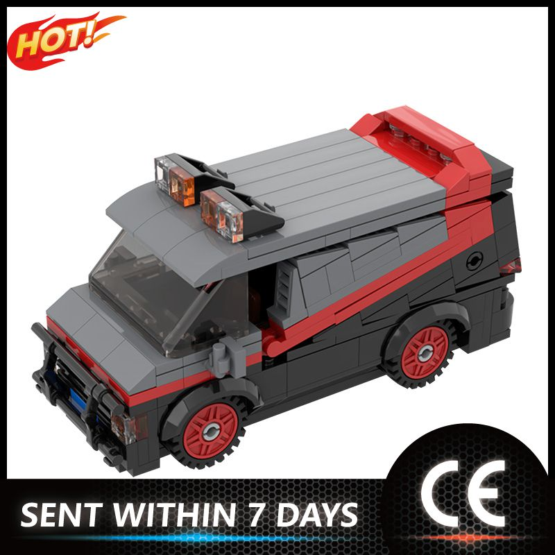 moc 38943 action figure demogorgobed bricks compatible with small building blocks assemble kid s children s toys gifts Classic Vehicle Car Model MOC-50493 A-Team Van Compatible with Small Building Blocks Bricks Assemble Toys