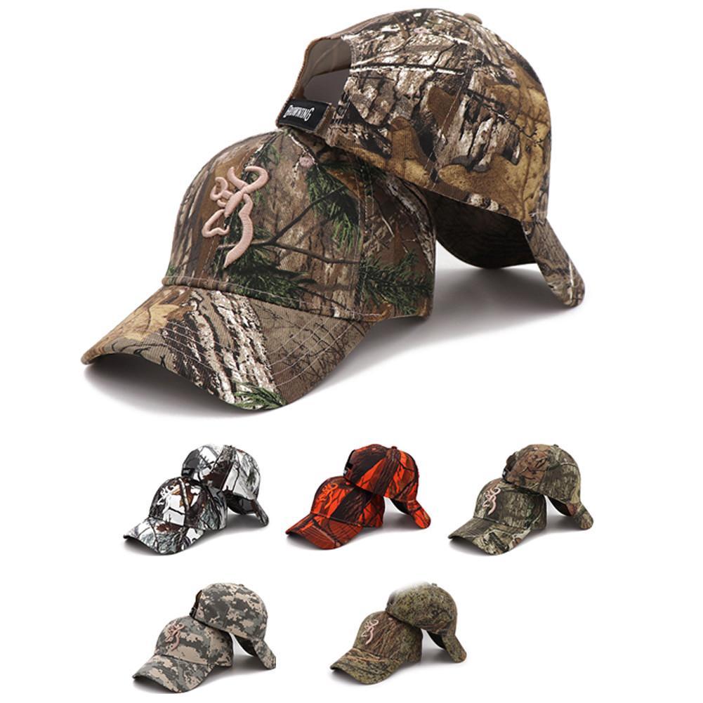 Gorra de camuflaje caza Camping al aire libre gorra de béisbol Browning gorra de béisbol gorras de pesca hombres al aire libre caza camuflaje sombrero para jungla