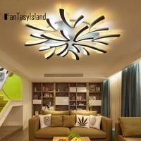 two colors luxury chandelier kitchen living room modern led ceiling chandelier with remote v type loft chandeliers