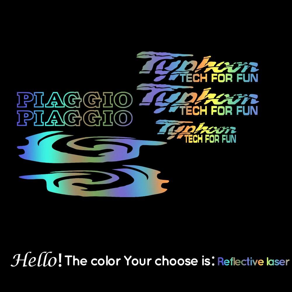 Наклейки для Piaggio Typhoon Tech Забавный роллер мопеды наклейки графика