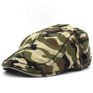 2021 four seasons Camouflage print Newsboy Caps Cotton Flat Peaked Cap Men and Women Painter Beret Hats 28