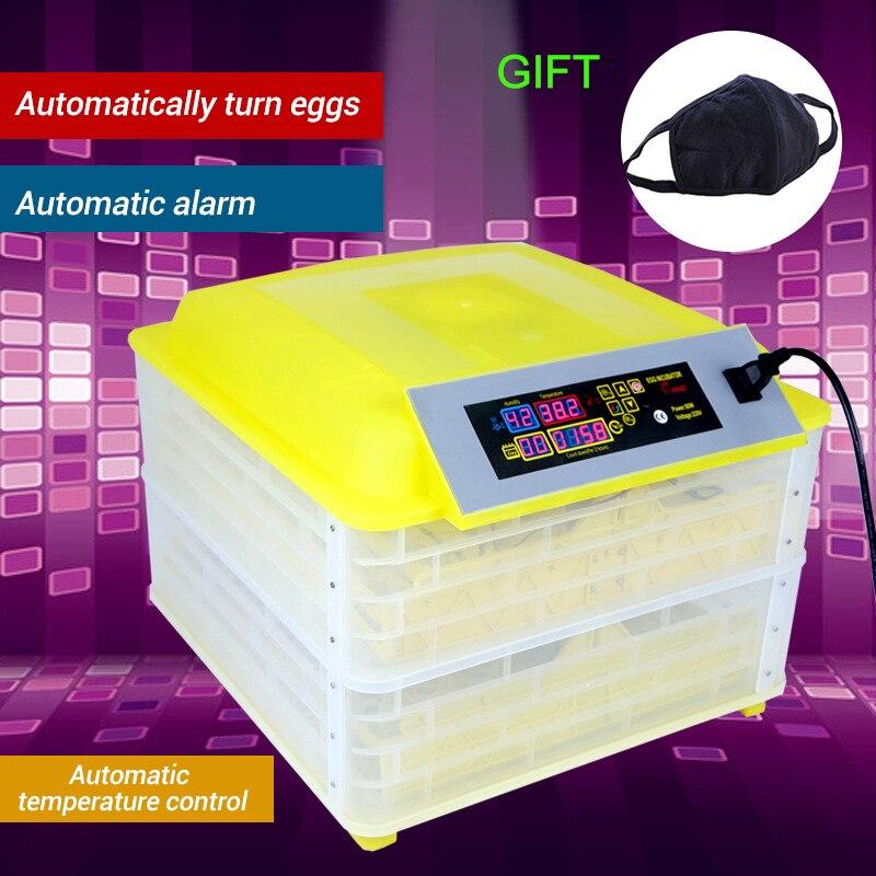 96 huevos incubadora automática de huevos controlador Digital de giro de huevos Control de temperatura máquina de incubación de granja incubadora de huevos de pollo