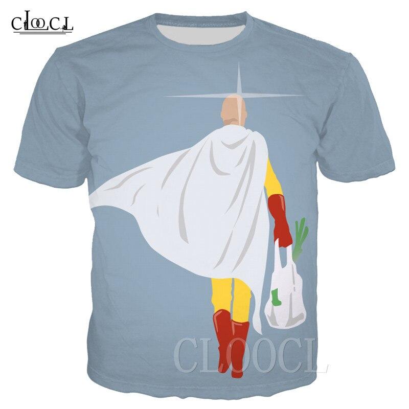 Camisetas de dibujos animados de Anime japonés One Punch Man, camiseta de verano con estampado 3D para hombre y mujer, camisetas de gran tamaño de Hip Hop, divertidas camisetas