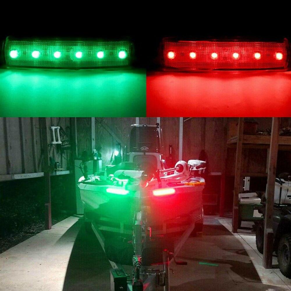 4 pc vermelho verde barco navegação anti-colisão à prova de poeira splash-proof luzes led luzes de popa barcos estibordo lâmpada de luz