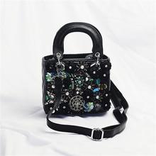 Women Crystal Totes Luxury Women Shoulder Messenger Bags Punk Handbag Bridal Floral Wedding Rhinestone Purse Evening Party Bags